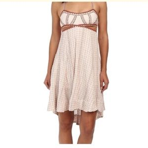 Free People Cut Out High Low Smock Stitch Dress